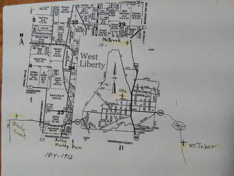 West Liberty Church Map